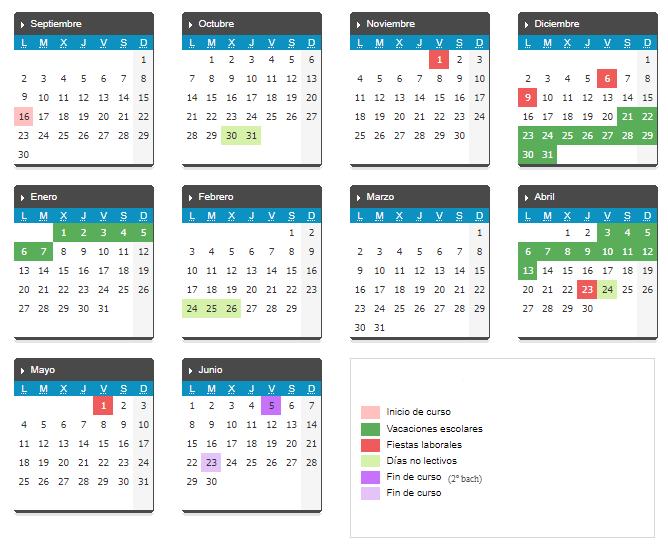 Calendario Junio 2020 Pdf.Calendario Escolar 2019 2020 Ies Pintor Luis Saez